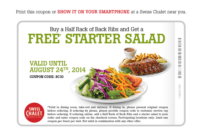 Buy a Half Rack of Back Ribs and Get a FREE Starter Salad