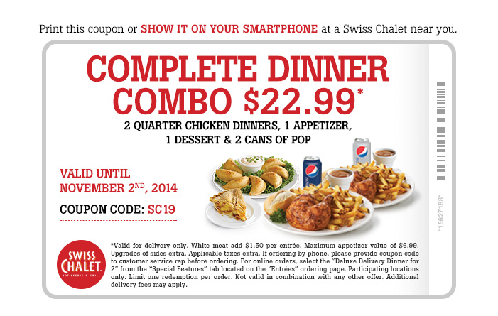 Complete Dinner Combo $22.99