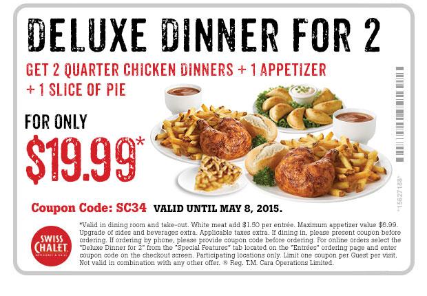 Deluxe Dinner For 2