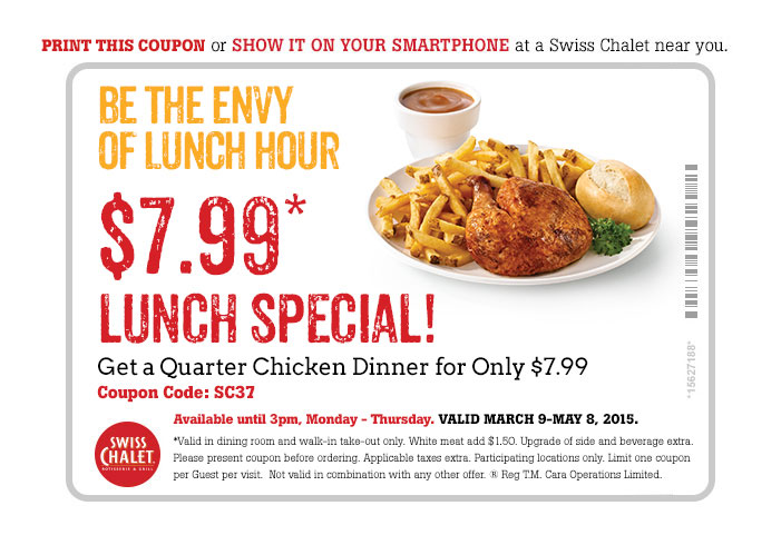 $7.99* Lunch Special! Print coupon.