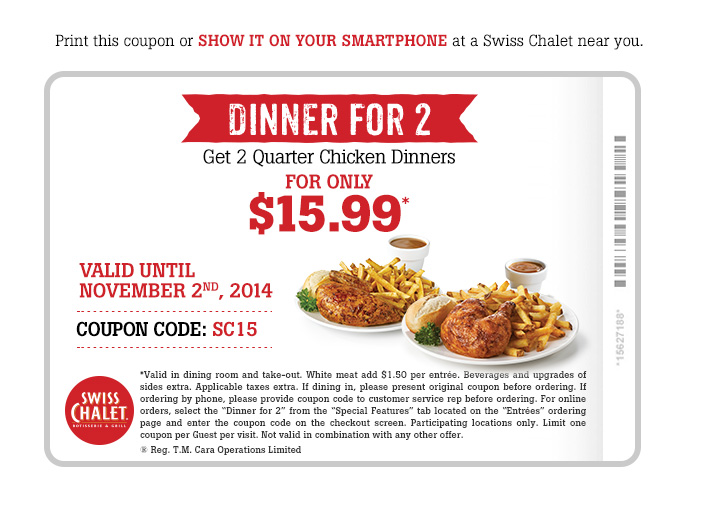 2 can dine for $15.99