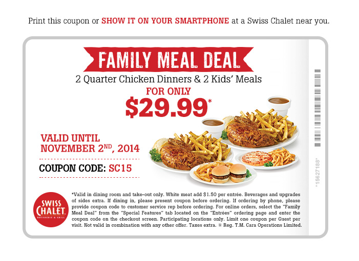 Family Meal Deal $29.99